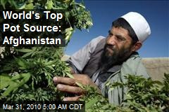 World's Top Pot Source: Afghanistan