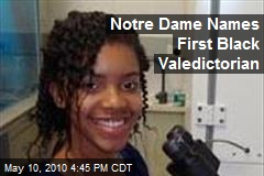 Notre Dame Names First Black Valedictorian
