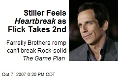 Stiller Feels Heartbreak as Flick Takes 2nd