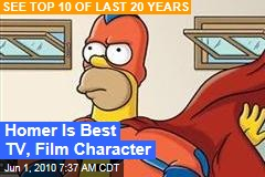Homer Is Top TV, Film Character