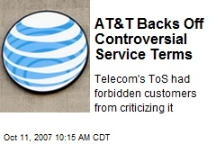 AT&T Backs Off Controversial Service Terms