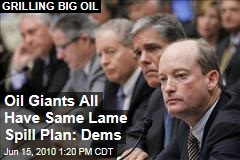 Oil Giants All Have Same Lame Spill Plan: Dems