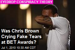Did Chris Brown Cry Fake Tears at BET Awards?
