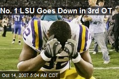 No. 1 LSU Goes Down in 3rd OT