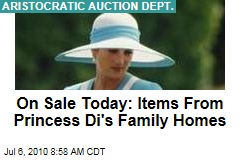 On Sale Today: Items From Princess Di's Family Homes