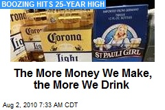The More Money We Make, the More We Drink