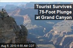 Tourist Survives 75-Foot Plunge From Grand Canyon
