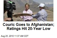 Couric Goes to Afghanistan; Ratings Hit 20-Year Low